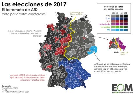 Voto por distritos Alemania en 2017