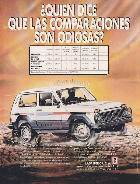 Lada Niva, un todo terreno importado a España en el año 1987