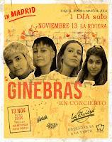 Concierto de Ginebras en La Riviera