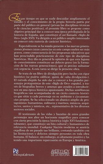 GRANDES PERSONAJES DEL SIGLO DE ORO ESPAÑOL, POR JUAN BELDA PLANS