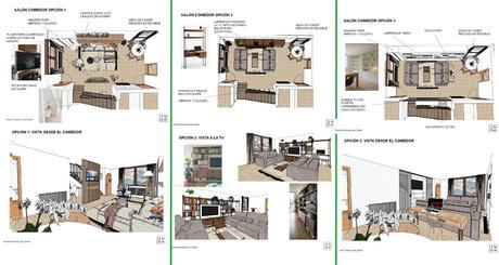 Cambios en el salón: el salón «antes y después» con las ideas de Interiorismo Online (1ªparte)