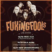 Conciertos de Fuking Fools en Barcelona en octubre y noviembre en 2021