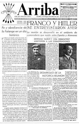 El encuentro entre Hitler y Franco en Hendaya