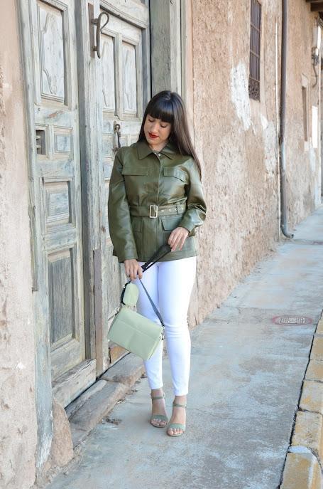 Cazadora verde oliva | SHEIN X: Rock the Runway