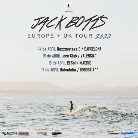 Conciertos de Jack Botts en España en 2022