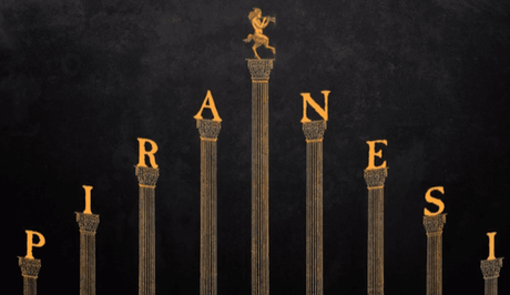 El titulo Piranesi sobre columnas