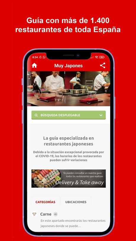 Muy Japonés presenta la primera App de restaurantes japoneses en España con geolocalización