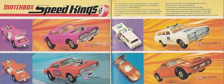 Catálogo internacional de Matchbox Super Kings y Speed Kings de 1971