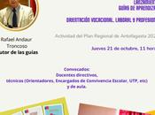 Invitación para Lanzamiento Guías Aprendizaje: ORIENTACIÓN VOCACIONAL, LABORAL PROFESIONAL.