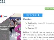 comparte documento Demre: Oferta Definitiva Carreras, Vacantes Ponderaciones-Proceso 2022.