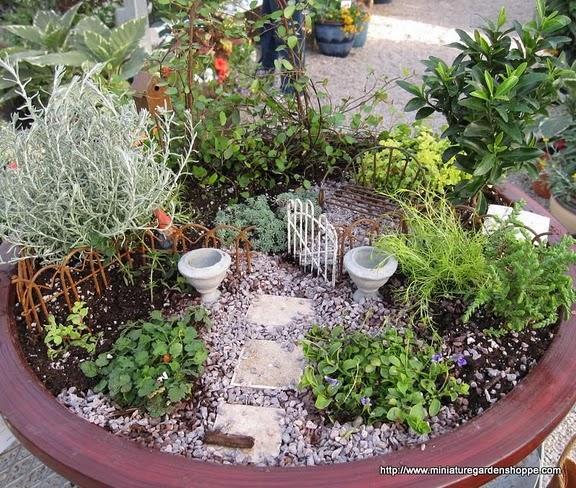 Jardines en miniatura paperblog for How to make a mini garden