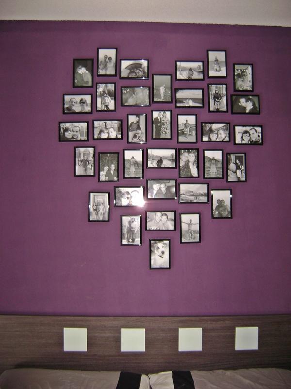 Pared Con Fotos en Forma de Corazon Fotos en Forma de Corazón