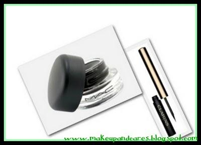 Eyeliner en crema Blactrack de Mac  Vs  Eyeliner líquido colour definition de Clarins.
