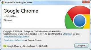 Google Chrome 14 lista para descargar