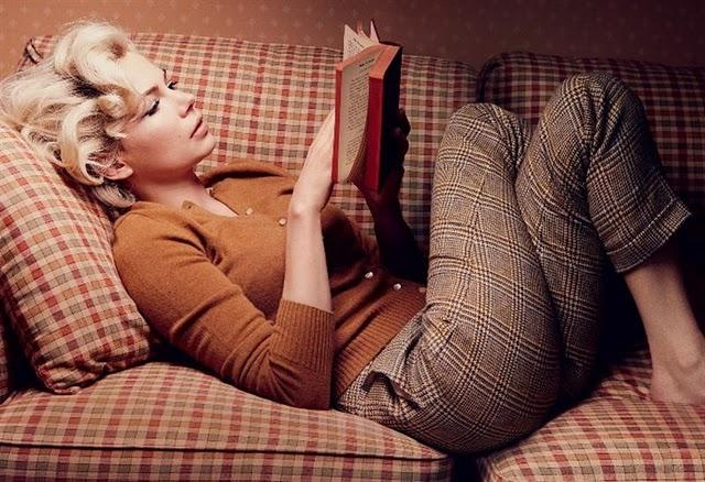 Michelle Williams leyendo - leer es sexy