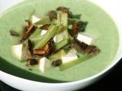 Merengue judías verdes boletus edulis tofú