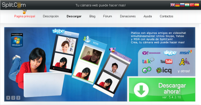 SplitCam - Mas opciones para tu camara web gratis