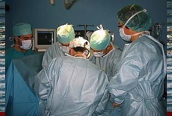 La operación de las venas en el pie