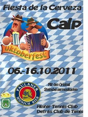 Calpe. XXIV Fiesta de la Cerveza - Oktoberfest Calp 2011