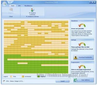 CheckDrive - analizador de disco rigido en busca de errores