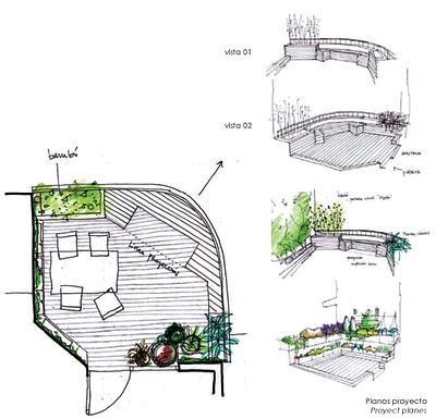 Proyecto de un jard n urbano en un tico paperblog for Terraza significado