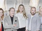 Petra Nemcova apoyada nueve diseñadores españoles versionado camisa blanca, exclusiva para Corte Inglés