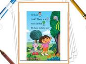 Dora & Rainbow Kite Festival Printable Book