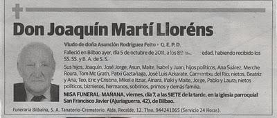 Se nos ha ido Joaquín Martí, el más senior de los seniors de SECOT Bizkaia