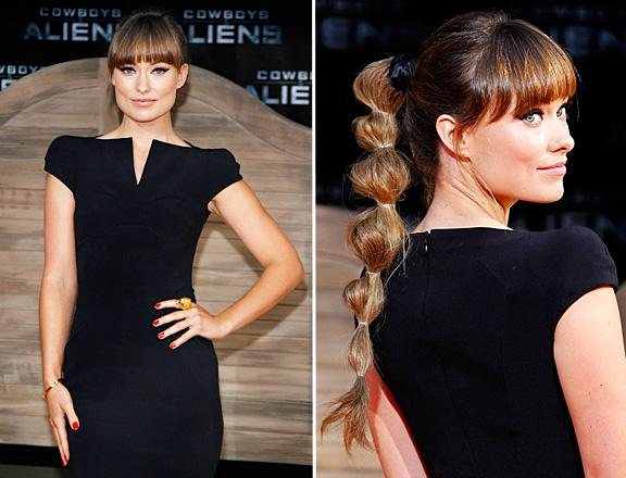 olivia wilde ponytail Get Olivia Wildes Cowboys And Aliens Cascading Ponytail Look!