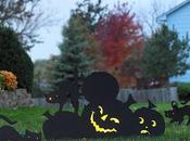 Halloween: decorar jardín siluetas