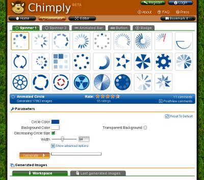 Chimply - Crea animaciones de carga rapido y facil