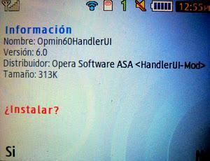 Opera Mini 6 Samsung Ch@t 335