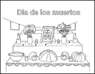 Dibujos Para Colorear Dia De Muertos Paperblog