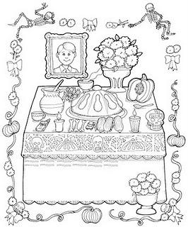 Dibujos para colorear, Dia de muertos - Paperblog