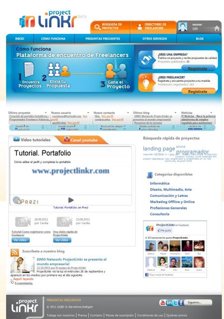 ProjectLinkr - Plataforma de freelancers para encontrar empleo