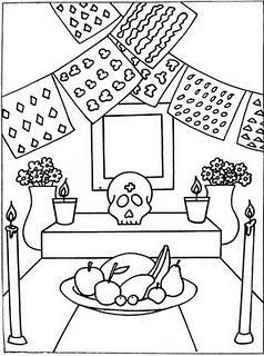 Dibujos Para Colorear Dia De Muertos Ii Paperblog