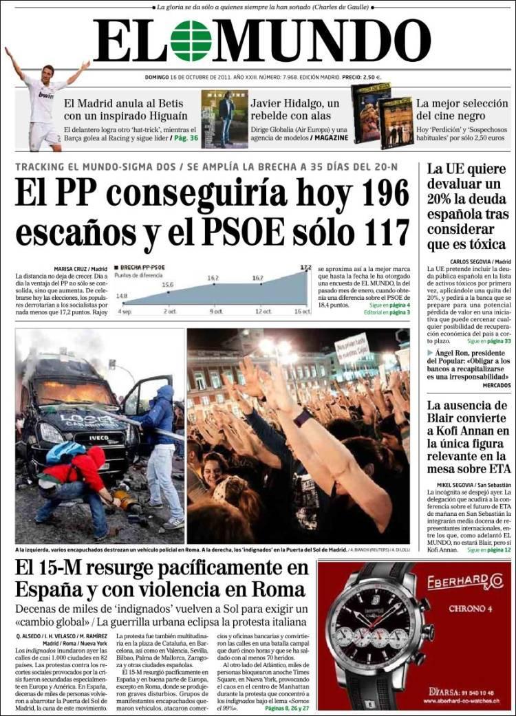 Diario El Mundo 16 Octubre 2011