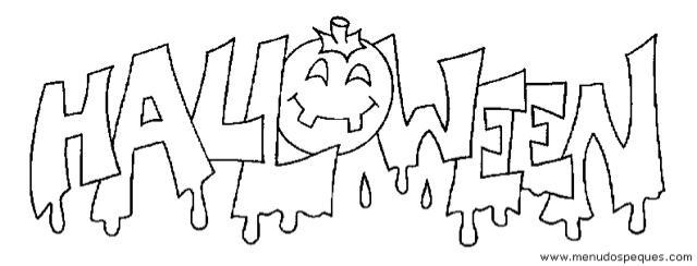 Arañas De Halloween Para Colorear: Halloween Dibujos Para Colorear