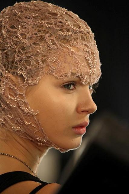 Backstage at Alexander McQueen S/S12
