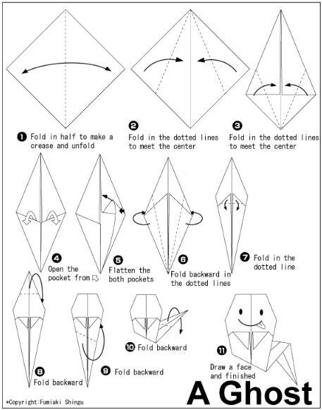 Halloween Origami Instructions