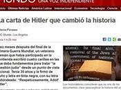 Carta Hitler (fechada 1919, años antes toma poder) expresa opinión sobre cuestión judía