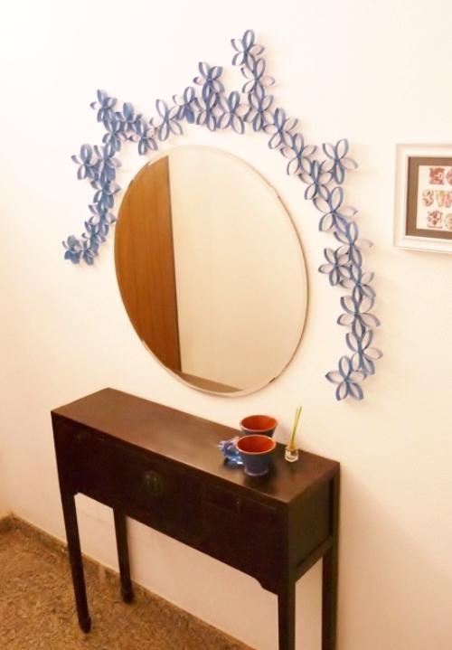 Concurso diy x4duros 39 11 decoraci n con cart n de papel - Decoracion con espejos en paredes ...