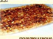 Coca cebolla bacalao