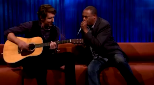 "Michael Winslow haciendo su versión del ""Whole Lotta Love"" de Lez Zeppelin con la boca"