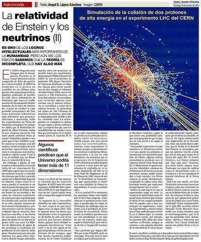 La Relatividad de Einstein y los neutrinos