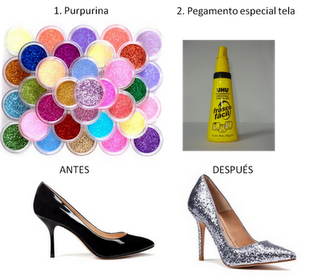 DIY - Glitter shoes
