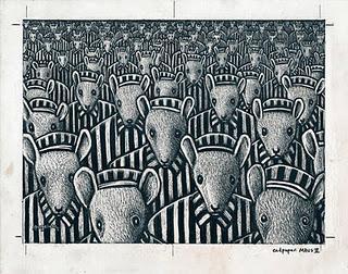 MAUS (1991), DE ART SPIEGELMAN. EL GATO Y EL RATÓN.