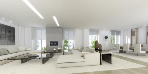 A cero presenta el proyecto de interiorismo para diversos apartamentos en el centro de madrid - Interiorismo salones modernos ...