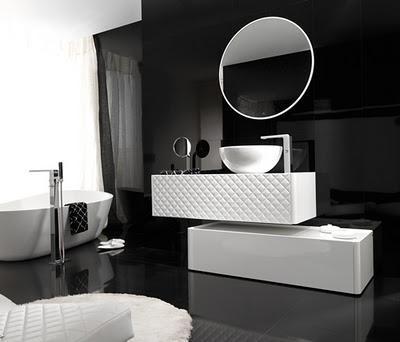 Cuatro ba os en blanco y negro paperblog - Banos blanco y negro ...