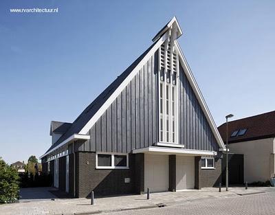 De iglesia a casa moderna estilo contempor neo paperblog for Casa holandesa moderna